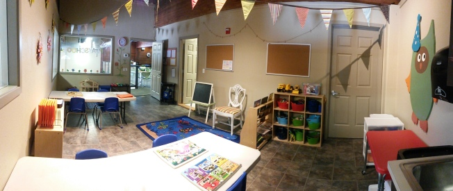 Panorama of the classroom.